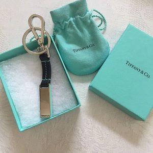 Tiffany & Co  Keychain leather